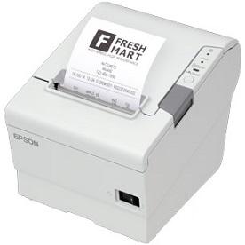 Epson C31CE94A9971 T88VI Model M338A, OmniLink Thermal Receipt Printer,  Serial/Wireless, White
