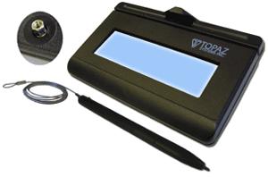 Topaz T-LBK462-KAB-R KioskGem LCD 1X5, Serial, Backlit, Kiosk-Mount  Electronic Signature Pad