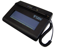 Topaz T-S460-BT2-R SigLite 1X5 Bluetooth Wireless Electronic Signature Pad,  with Software