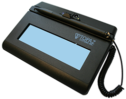 Topaz T-LBK460-BT2-R SigLite LCD 1X5 Bluetooth, Backlit, Wireless  Electronic Signature Pad, Software